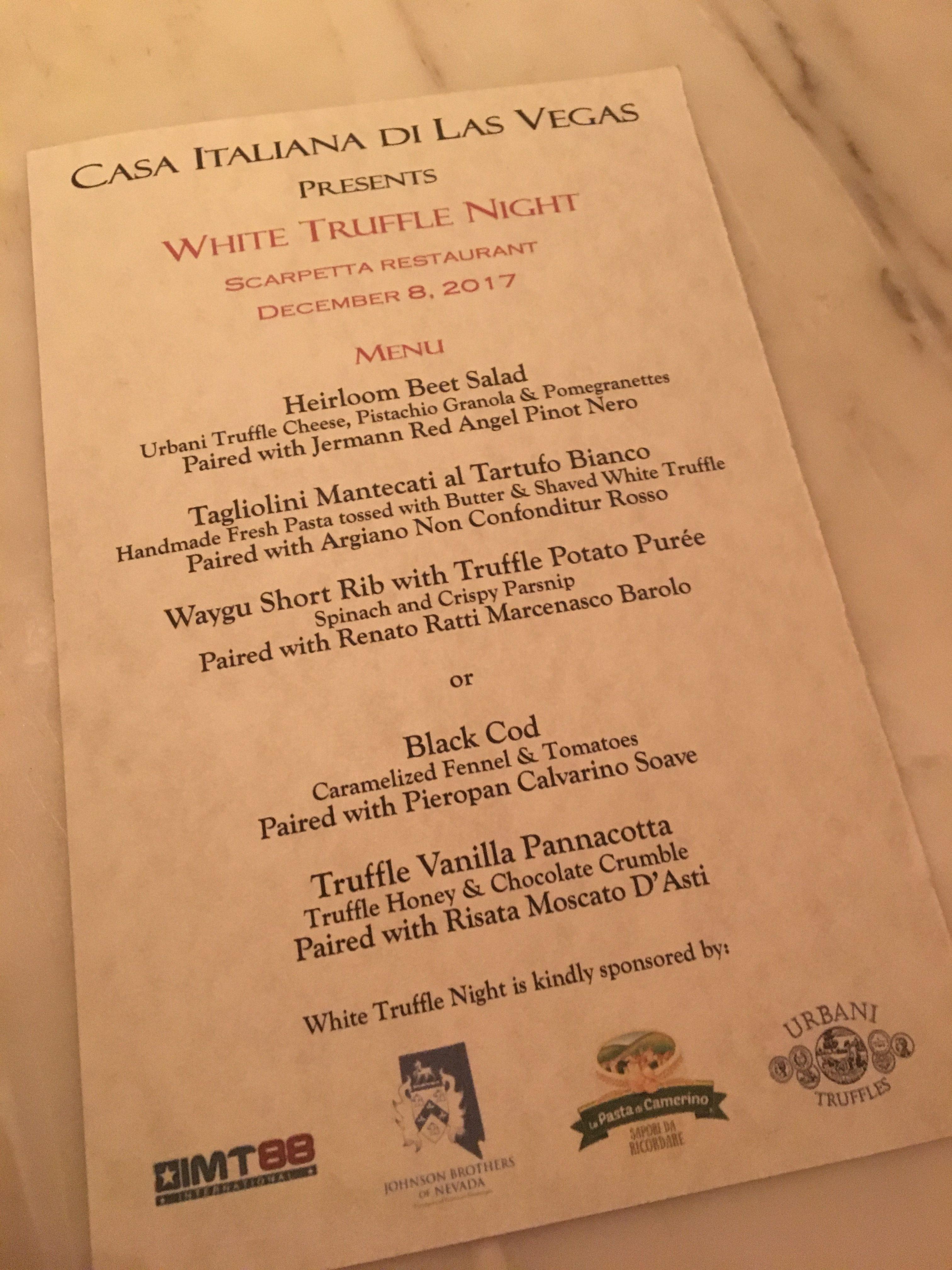 Truffle dinner fundraising