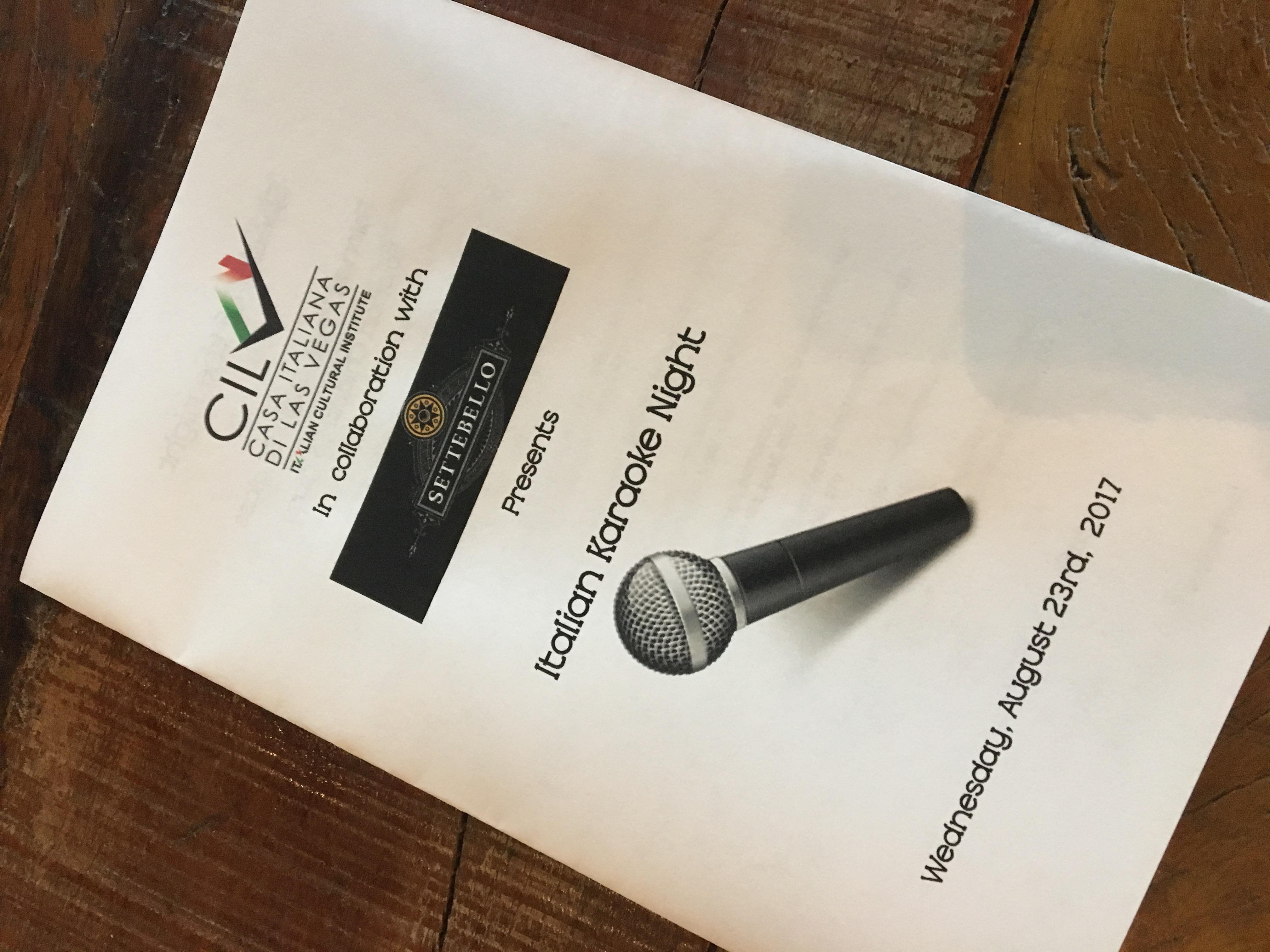 Italian Karaoke Night