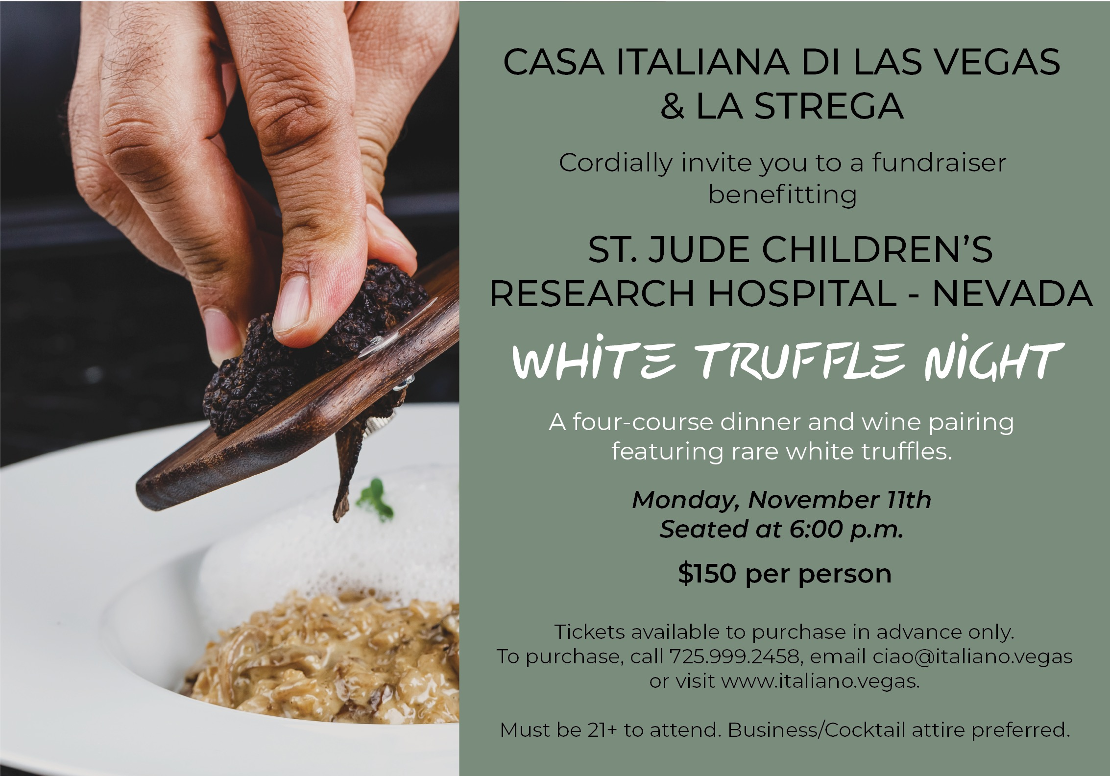 WHITE TRUFFLE NIGHT FUNDRAISER
